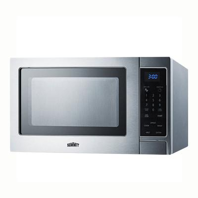 Summit SCM853 Microwave Oven - Rotary Turntable, Digital Controls, Stainless Steel, 115v