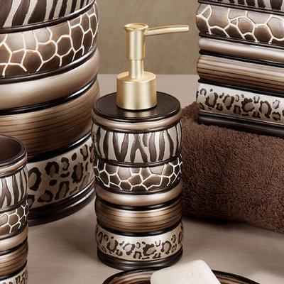 Safari Stripes Lotion Soap Dispenser Multi Metallic , Multi Metallic