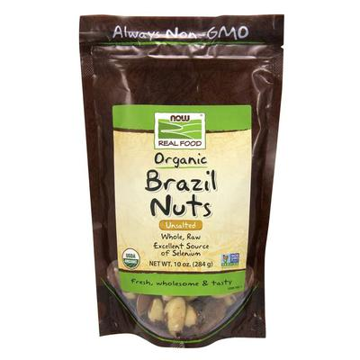 NOW Snacks - NOW Real Food - Brazil Nuts (Unsalted, Whole, Raw,