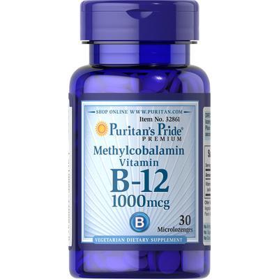 Puritan's Pride 2 Pack of Methylcobalamin Vitamin B-12 1000 mcg-30-Microlozenges