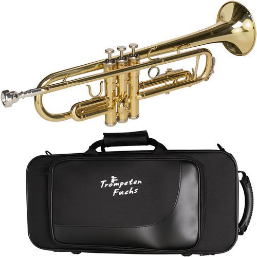 Cascha Bb-Trompete Fuchs Trompete, Inkl. Koffer goldfarben Blasinstrumente Musikinstrumente Audio, MP3, Musik