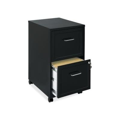 """Lorell Soho 2-Drawer Mobile File Cabinet, 14.3W X 24.5H, Black (Llr16872)"""