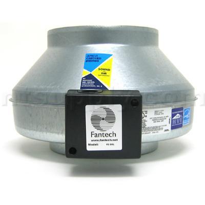 Fantech FG Series 502 CFM Inline Centrifugal Exhaust Fans (FG8XL) - Galvanized steel