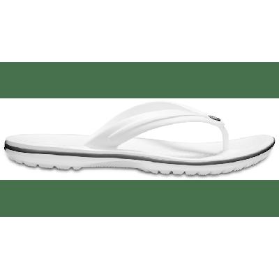 Crocs White Crocband™ Flip Shoes