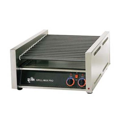 "Star 24"" W Grill-Max Pro Duratec 45 Hot Dog Roller Grill (45SC) - Stainless Steel"