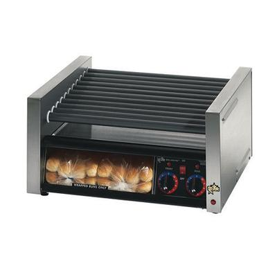 "Star Grill Max 24"" W Hot Dog Roller Grill With Duratec Non-Stick Rollers & Bun Drawer (30SCBBC)"