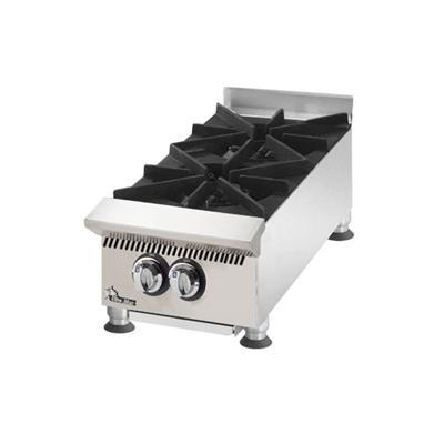 "Star 12"" W 60,000 BTU Ultra Max 2 Burner Countertop Hot Plate (802HA) - Stainless Steel"