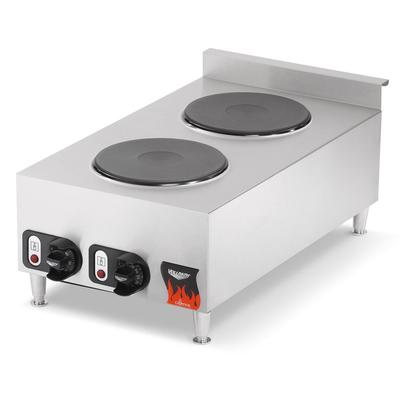 Vollrath 240V 2-Burner Electric Countertop Hot Plate Stainless Steel (40739) - Stainless Steel