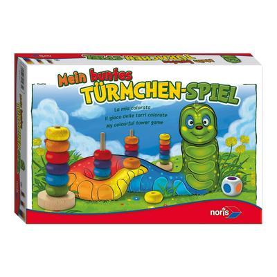Noris Spiel Mein buntes Türmchenspiel, Made in Germany bunt Kinder Ab 3-5 Jahren Altersempfehlung