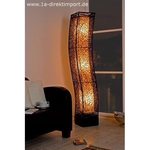 XXL Stehlampe Rattanlampe Leuchte