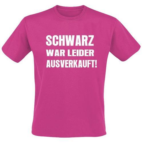 Schwarz war leider ausverkauft Herren-T-Shirt - pink