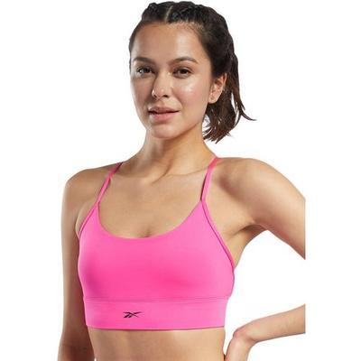 Reebok Womens Solid Crisscross Sports Bra