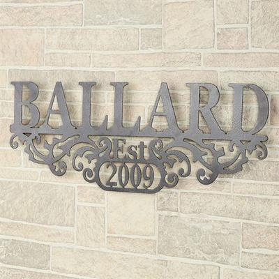 Kinship Name and Year Wall Art Sign Antique Pewter , Antique Pewter