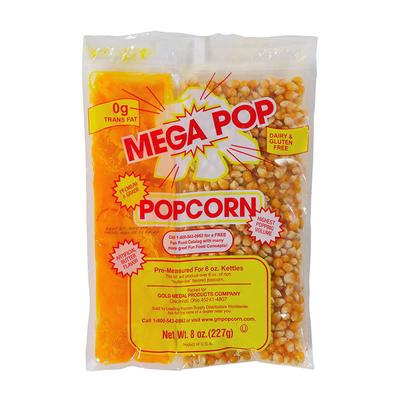 Gold Medal 2838 Mega Popcorn Oil Salt Kits for 8 oz Kettles