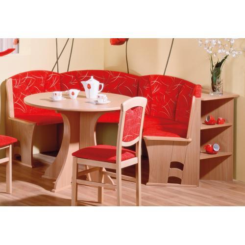 SCHÖSSWENDER Rundbank Boston, pflegeleicht rot Polsterbänke Sitzbänke Stühle