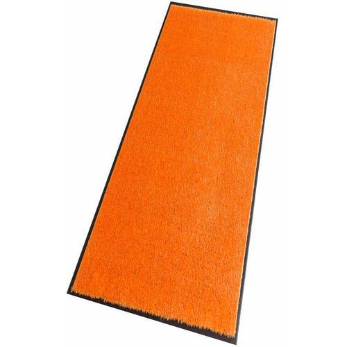 HANSE Home Läufer Deko Soft, rechteckig, 7 mm Höhe, Schmutzfangläufer, Schmutzfangteppich, Schmutzmatte, waschbar orange Teppichläufer Teppiche und Diele Flur