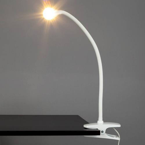 Schmale LED-Klemmleuchte Baris in Weiß