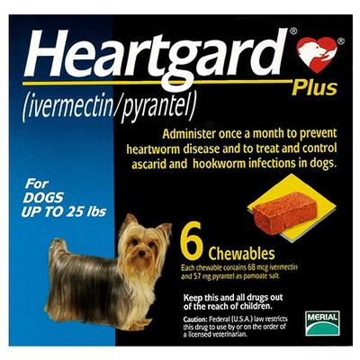 Heartgard Plus Small Dogs Up To 25lbs (Blue) 12 Doses