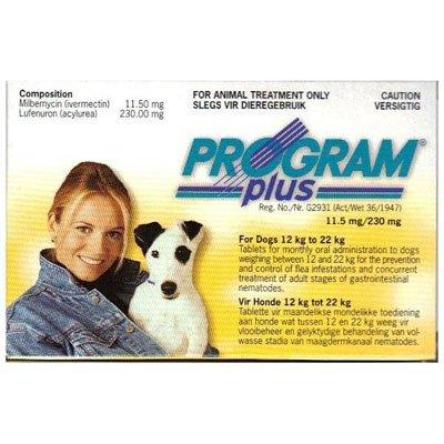 Program Plus for Dogs 21 - 45 lbs (Yellow) 6 Tablet