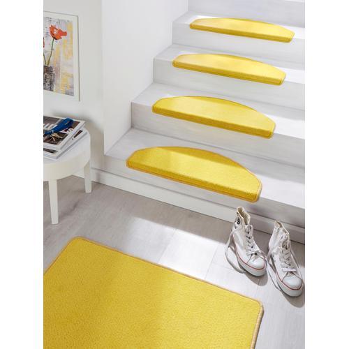 HANSE Home Stufenmatte Fancy, halbrund, 7 mm Höhe, große Farbauswahl, 15 Stück in einem Set gelb Stufenmatten Teppiche