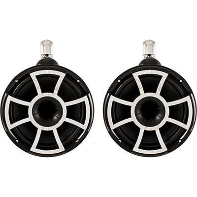 """Wet Sounds Rev 10 B-FC V2 10"""" Black Marine Tower Speakers Fixed"""