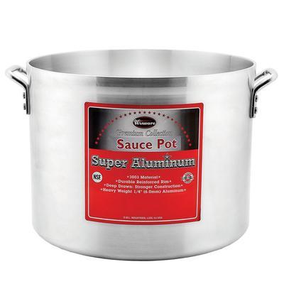 """Winco AXHA-60 60 qt Aluminum Sauce Pot - 18"""" x 13 3/4"""""""