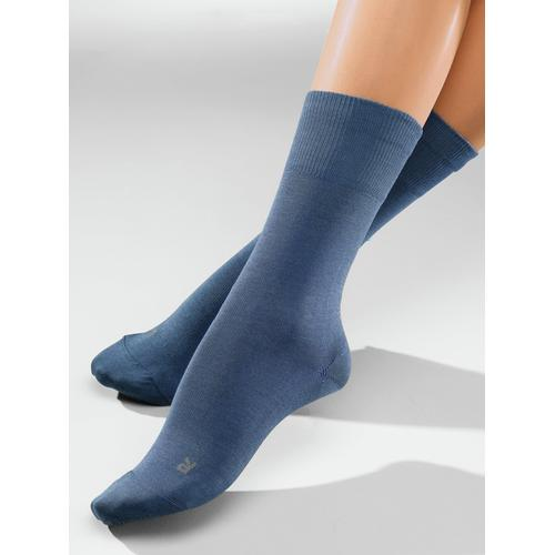 Avena Herren Diabetiker-Socken 2 Paar Grau