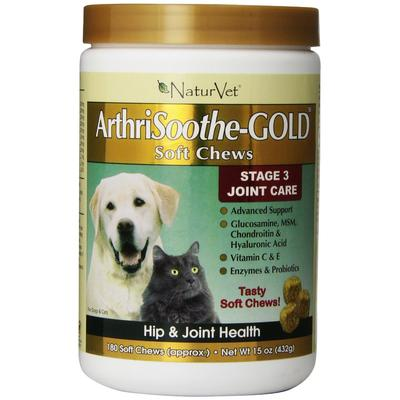 NaturVet Dogs - ArthriSoothe GOLD (Advanced Care) - 180 Soft Chew