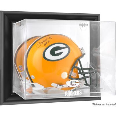 Green Bay Packers Fanatics Authentic Black Framed Wall-Mountable Helmet Display Case