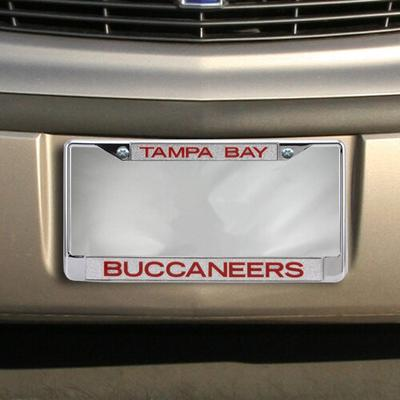 Tampa Bay Buccaneers Colored Silver Glitter Metal Frame