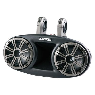 """Kicker Dual 6.75"""" 2-Way Marine Speaker System with Sealed Cones - Black/Silver - 41KMT674"""