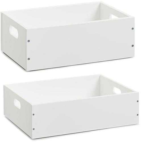 Zeller Present Aufbewahrungsbox, . (2er Set) weiß Kleideraufbewahrung Aufbewahrung Ordnung Wohnaccessoires Aufbewahrungsbox