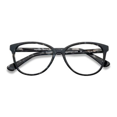 Female's Horn Gray/Floral Acetate Prescription eyeglasses - EyeBuydirect's Hepburn