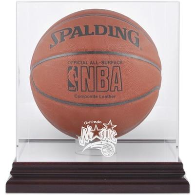 Orlando Magic Fanatics Authentic Mahogany Team Logo Basketball Display Case with Mirrored Back