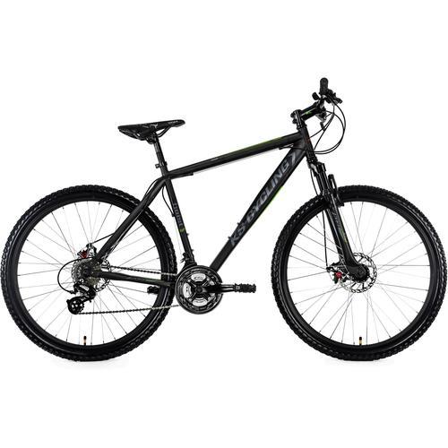 KS Cycling Mountainbike Heist, 24 Gang, Shimano, Altus Schaltwerk, Kettenschaltung schwarz Hardtail Mountainbikes Fahrräder Zubehör