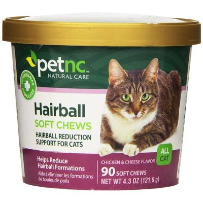 PetNC Natural Care Cats - Cat Hairball Soft Chews - 90 Tablets