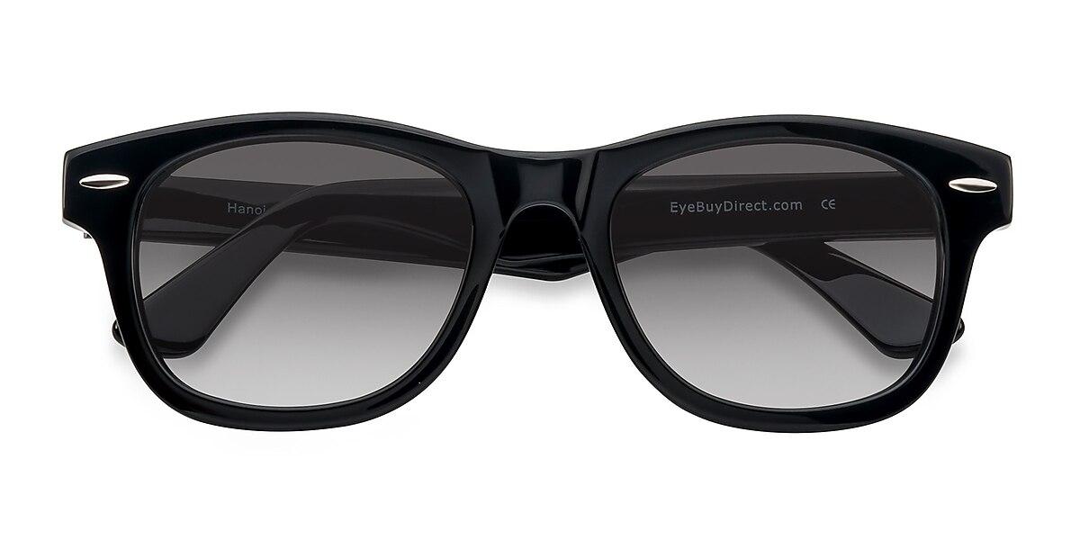 Unisex Square Black Acetate Prescription sunglasses - EyeBuydirect's Hanoi