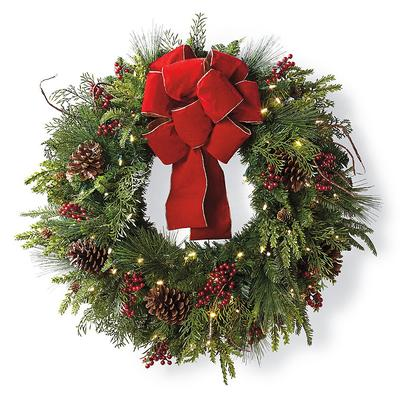 Christmas Cheer Wreath with Red ...
