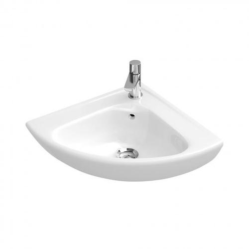 Villeroy & Boch O.novo Eck-Handwaschbecken, B: 55 T: 45 cm weiß mit CeramicPlus 732740R1