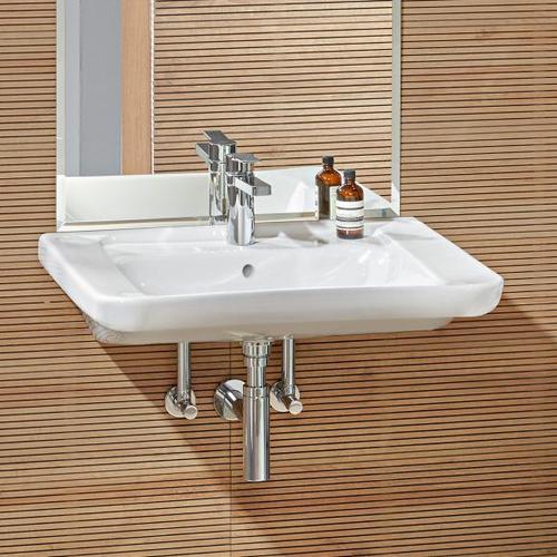 Villeroy & Boch ViCare Waschtisch, unterfahrbar, B: 65 T: 55 cm weiß mit CeramicPlus 517867R1