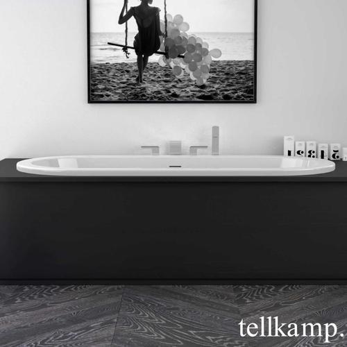 Tellkamp Solitär Fix Oval-Badewanne L: 179,5 B: 80 H: 44 cm weiß glanz, ohne Füllfunktion 0400-282-00-A/CR