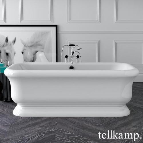 Tellkamp Vintage Freistehende Rechteck-Badewanne L: 180 B: 85 H: 63 cm weiß glanz 0100-090-00-A/CR