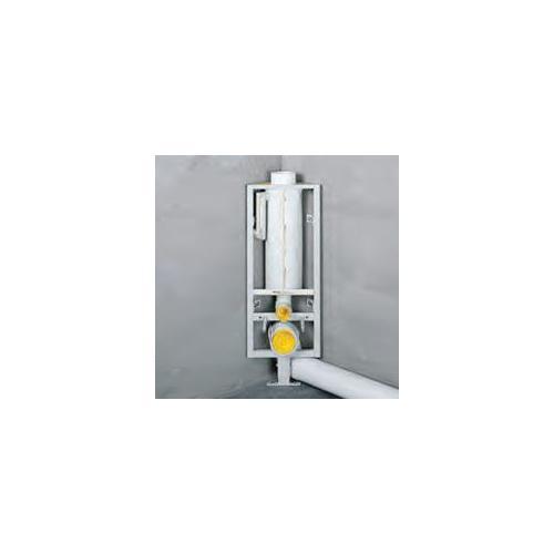 Missel Kompakt-Spülrohr MSR-M 6 Liter mit Mittelfuß für Wand-WC, Bauhöhe 960 mm zur Verwendung auf Rohdecke, höhenverstellbar 70 bis 140 mm 288-4080