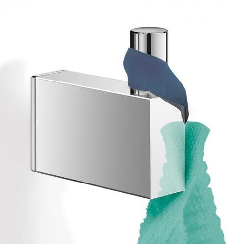 Zack LINEA Handtuchhaken, groß H: 64 T: 62 mm edelstahl poliert 40037
