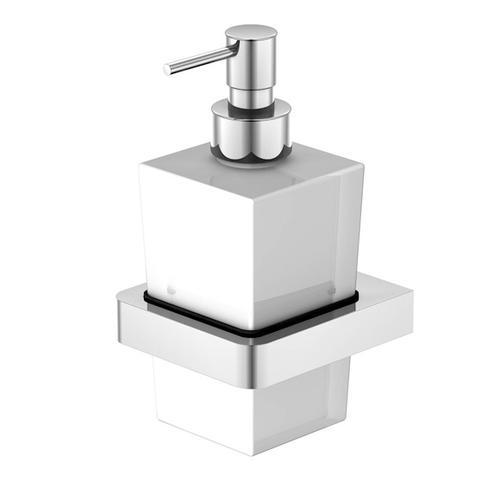 Steinberg Serie 420 Seifenspender B: 90 H: 180 T: 100 mm weiß satiniert 420 8001