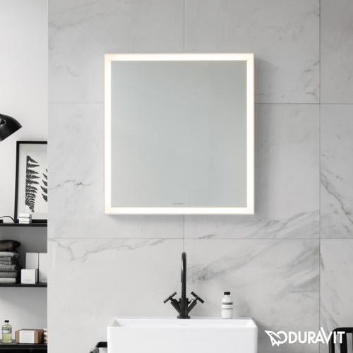 Duravit L-Cube Spiegel mit LED-Beleuchtung B: 65 H: 70 cm ohne Spiegelheizung LC738000000, EEK: A+