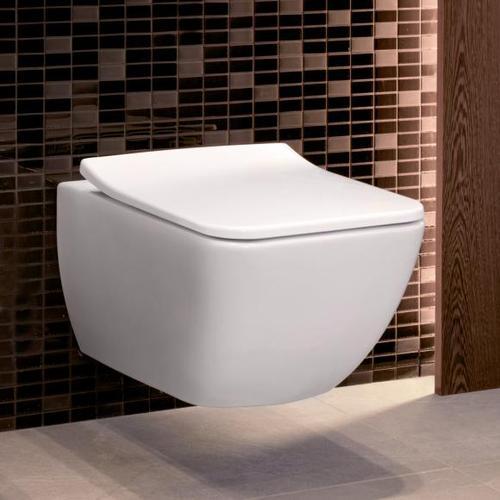 Villeroy & Boch Venticello Wand-Tiefspül-WC, offener Spülrand L: 56 B:37,5 cm weiß 4611R001