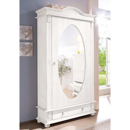 Home affaire Garderobenschrank Florenz, mit Spiegel weiß Garderobenschränke Garderoben