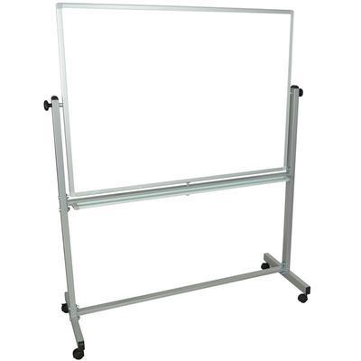 """Luxor L340 Reversible Magnetic Whiteboard w/ Aluminum Frame, 48"""" x 36"""""""