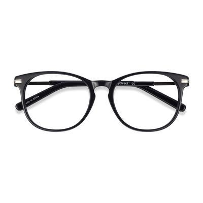 Unisex Round Black Acetate Prescription eyeglasses - EyeBuydirect's Decadence